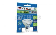 LED fényforrás GU10 spot 5W 38° melegfehér, üveg