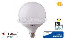 LED fényforrás E27 G120 gömb SMD 22W HL melegfehér SAMSUNG