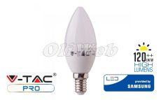 LED fényforrás E14 gyertya SMD 4,5W HL melegfehér SAMSUNG