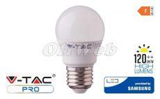 LED fényforrás E27 G45 kisgömb SMD 4,5W HL melegfehér SAMSUNG