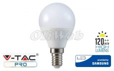 LED fényforrás E14 P45 SMD 4,5W HL melegfehér SAMSUNG
