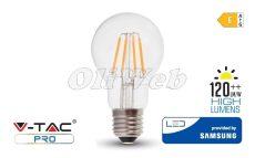 """LED fényforrás E27 A60 körte COG """"izzószálas"""" 6W melegfehér SAMSUNG"""