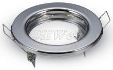 Süllyesztett kerek lámpatest GU10 ff-hoz, króm (2 db/doboz)