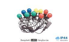 LED fényfüzér 5 méter színes